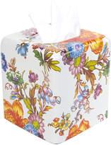 Mackenzie Childs MacKenzie-Childs - Flower Market Enamel Tissue Box Cover - White