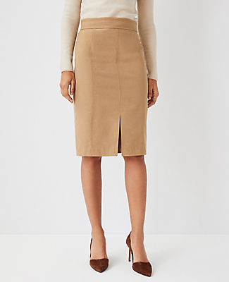 Ann Taylor The Topstitched Front Slit Pencil Skirt