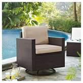 Crosley Palm Harbor Outdoor Wicker Swivel Rocker Chair