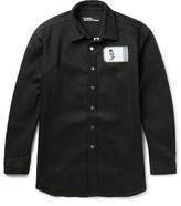 Raf Simons Robert Mapplethorpe Foundation Appliquéd Denim Overshirt