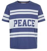 Paul Smith Striped Peace Motif T-Shirt