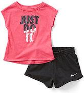 Nike Baby Girls 12-24 Months JDI Short-Sleeve Tee & Shorts Set