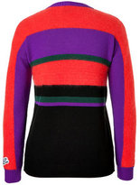 Iceberg Wool/Mohair Striped Pullover with Applique