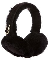 UGG Suede-Trimmed Shearling Earmuffs
