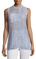 Theory Meenaly E Iras Crocheted-Knit Sleeveless Sweater