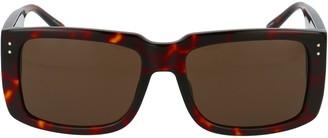 Linda Farrow Morrison Rectangle Frame Sunglasses