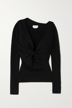 Alexander McQueen - Twisted Ribbed Wool Sweater - Black