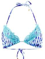 Beach Bunny Blue Triangle Top Girl Crush Ultra Violet Tie Dye.