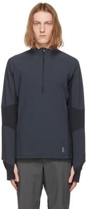 On Navy Trail Breaker Zip Sweater