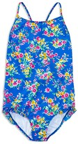 Ralph Lauren Girls' Floral One Piece Swimsuit - Sizes 7-16