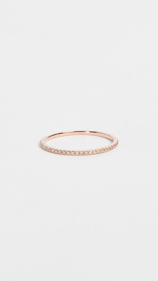 Ef Collection 14k Rose Gold Diamond Eternity Stack Ring