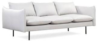 "Brayden Studio Rigney 86.6"" Flared Arm Sofa Upholstery Color: White"