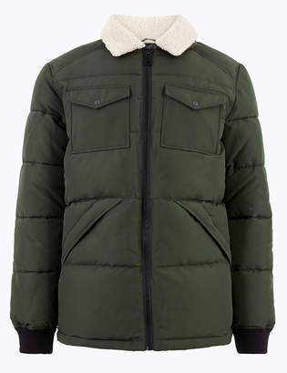 M&S CollectionMarks and Spencer Borg Collar Puffer Jacket with Thermowarmth