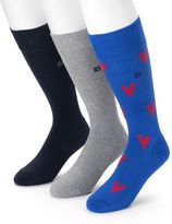 Chaps Men's 3-pack Lobster & Solid Soft Touch Cushioned Crew Socks