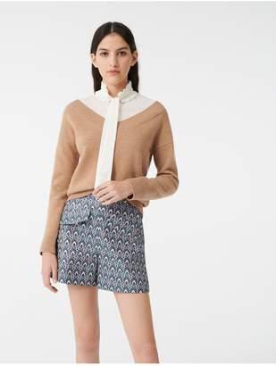 Maje Mixed Fabric Trompe LOeil Sweater