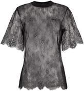 Off-White Cotton blend lace t shirt