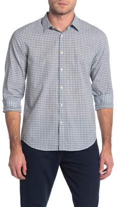 Theory Irving Check Plaid Trim Fit Shirt