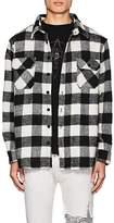 424 Men's Buffalo-Checked Wool-Blend Shirt Jacket