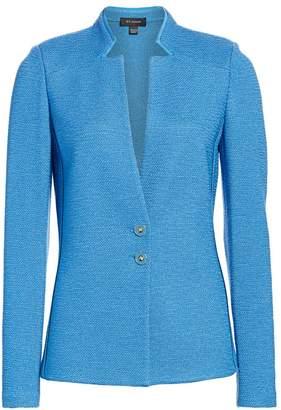 St. John Inverted Notch-Collar Knit Jacket