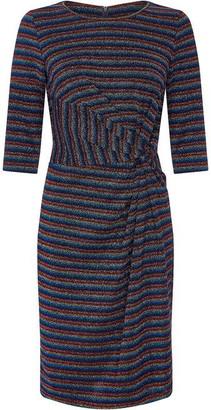 Yumi Metallic Stripe Bodycon Dress