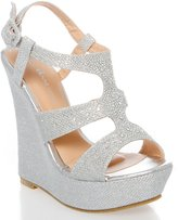 Static Footwear Anne Marie Womens 40-Kendra1 Open Toe High Heel Wedge Platform Sandal Shoes