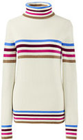 Classic Women's Plus Size Wool Turtleneck-Radiant Navy/Red Orange