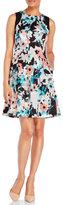 Ivanka Trump Floral Fit & Flare Dress