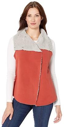 True Grit Dylan by Dylan Soft Blended Micro Fleece Mock Vest
