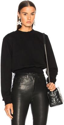 Cotton Citizen Milan Cropped Sweatshirt in Jet Black | FWRD