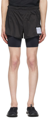 Satisfy Black Silk Long Distance 10 Shorts