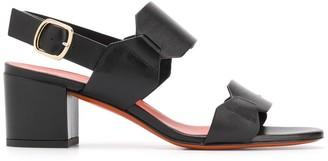 Santoni Low Block Heel Sandals