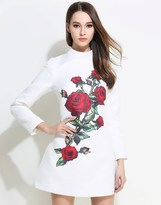 Comino Couture Oriental Rose Skater Dress