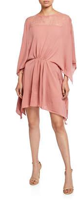 Valentino Short Knit Silk Dress