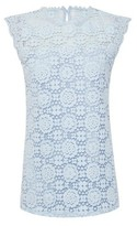Dorothy Perkins Womens Dp Tall Blue Lace Shell Top, Blue