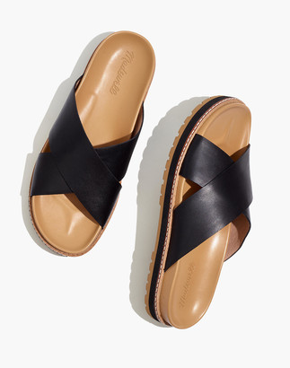 Madewell The Dayna Lugsole Slide Sandal in Leather