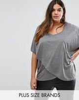 Junarose Plus T-Shirt With Asymmetric Hem