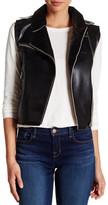 Vigoss Faux Leather Raw Edge Moto Vest