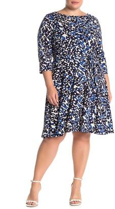 Leota Ilana 3/4 Length Sleeve Dress (Plus Size)