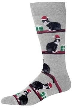Hot Sox Christmas Cats Crew Socks