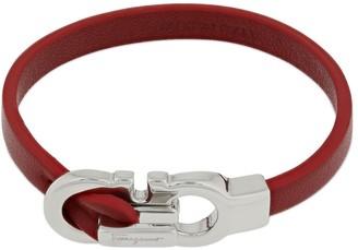 Salvatore Ferragamo 17cm Double Gancio Leather Bracelet