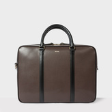 Paul Smith Men's Brown 'City Embossed' Leather Business Folio