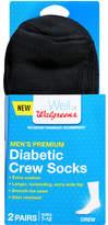Walgreens Diabetic Crew Socks Men's Premium 7-12