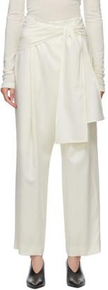 LE 17 SEPTEMBRE LE17SEPTEMBRE Off-White Wrap Trousers