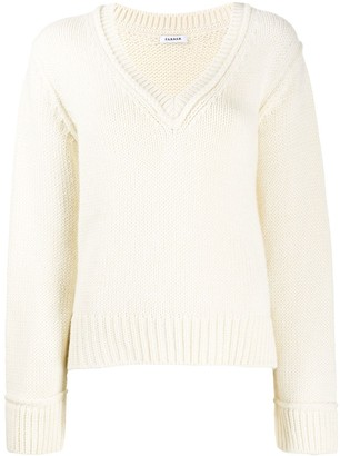 P.A.R.O.S.H. V-Neck Knitted Jumper