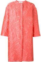 MSGM floral motif coat
