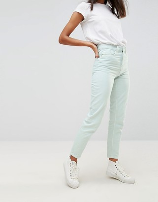 WÅVEN Elsa Pale Mint Mom Jeans