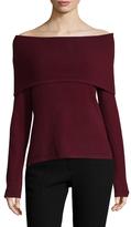 Cashmere Off Shoulder Sweater