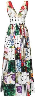 Dolce & Gabbana Patchwork Printed Cotton Poplin Dress