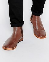 Frank Wright Burns Leather Chelsea Boots - Brown