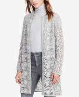 Lauren Ralph Lauren Lace Open-Front Coat